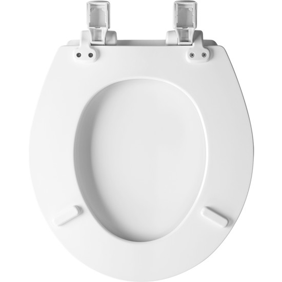 White Bemis 560 000 Round Open Front Toilet Seat